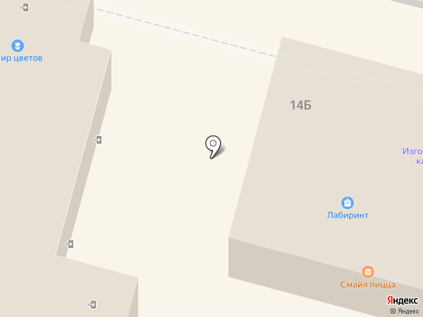 Лабиринт на карте Щёкино