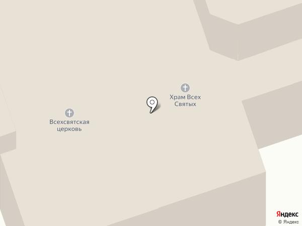 Приход Храма Всех Святых во Всехсвятском на Соколе на карте Москвы