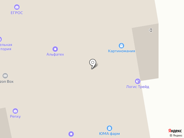 Микрос на карте Долгопрудного