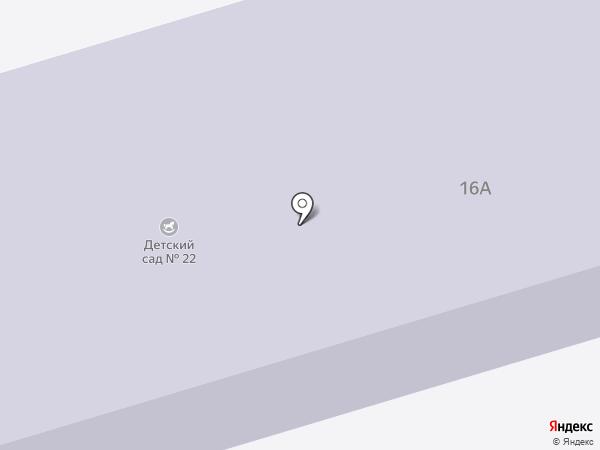 Детский сад №22 на карте Долгопрудного