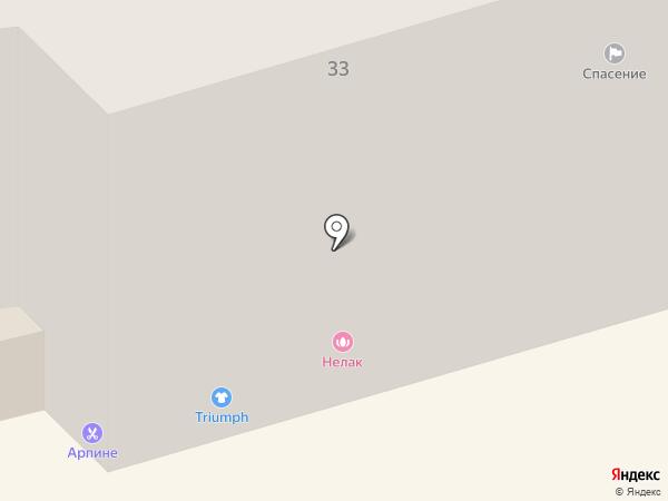 Жирафик на карте Долгопрудного