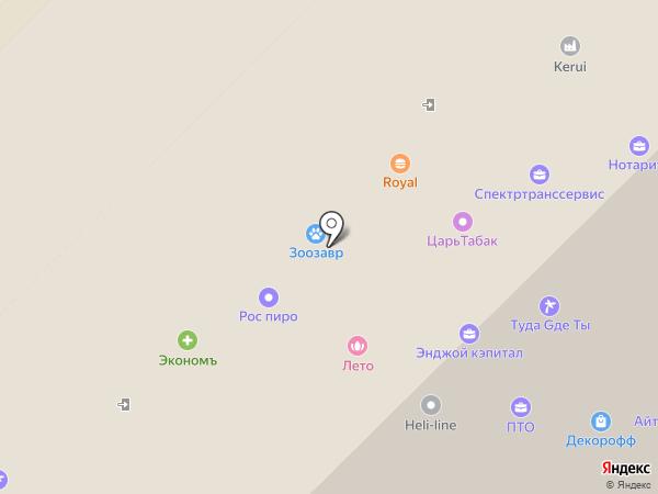 Очкарик на карте Москвы