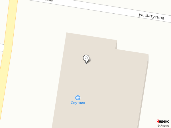 Спутник на карте Красногоровки