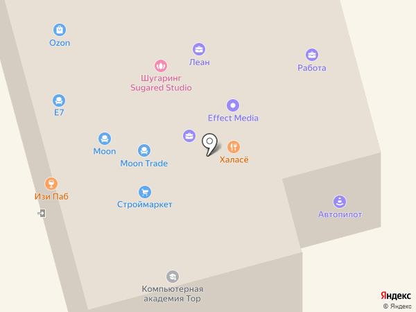 Столплит на карте Долгопрудного