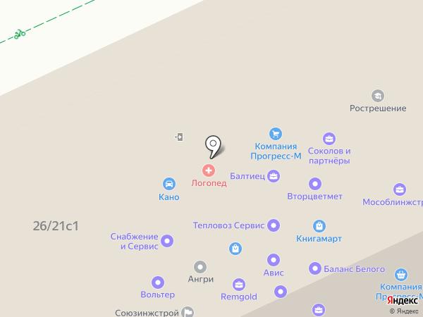 Авториумф на карте Москвы