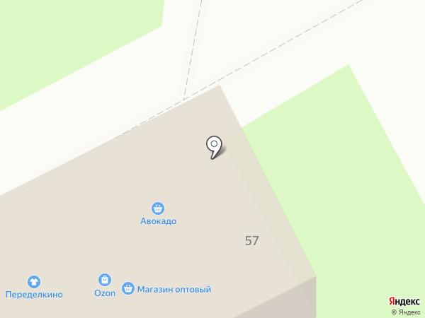 Переделкино на карте Подольска