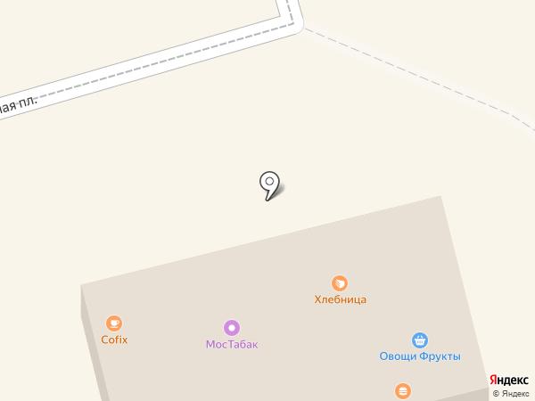 Киоск фастфудной продукции на карте Долгопрудного