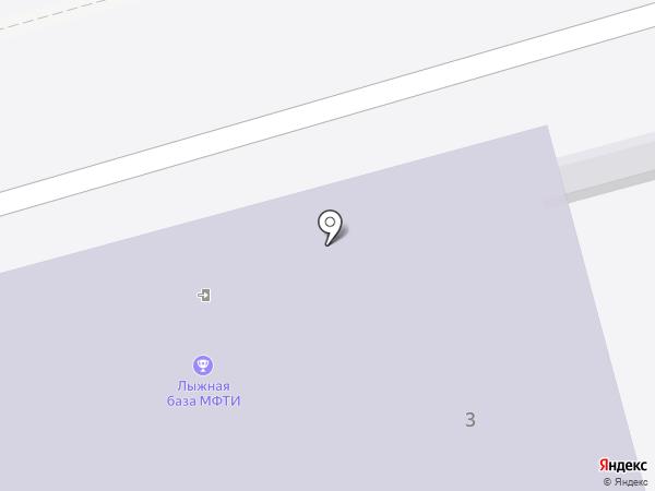 Спортивный клуб на карте Долгопрудного