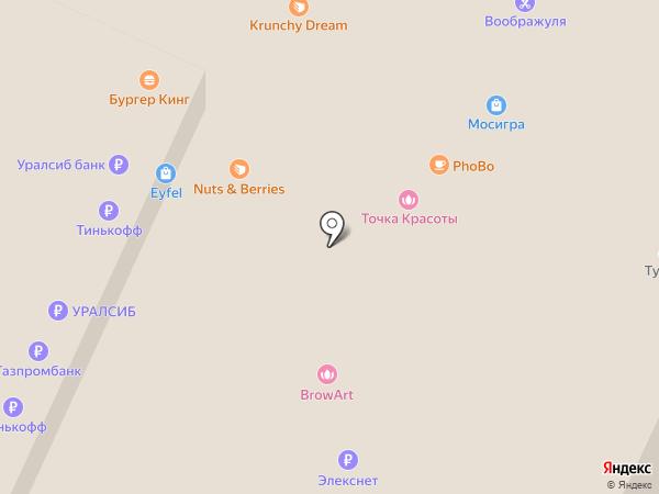 Сеть студий маникюра Лены Лениной на карте Москвы