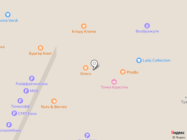 Точка Красоты на карте Москвы