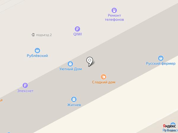 Житнев на карте Подольска