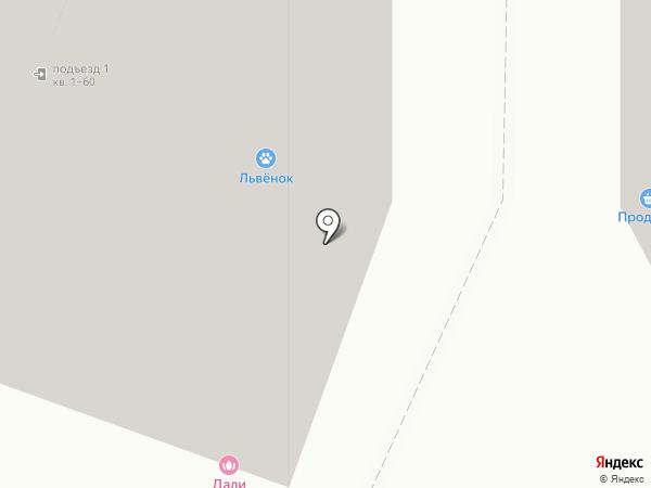 Львенок на карте Москвы