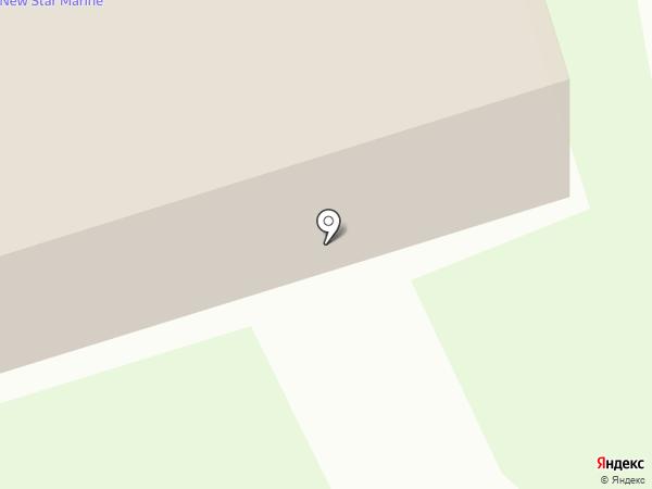 Нью Стар Марин на карте Долгопрудного