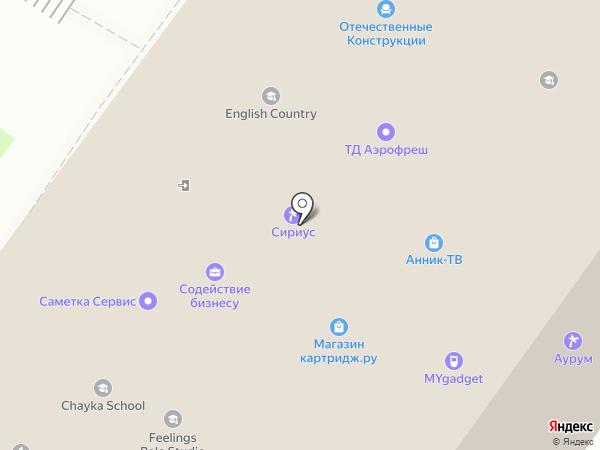 Евролес на карте Москвы