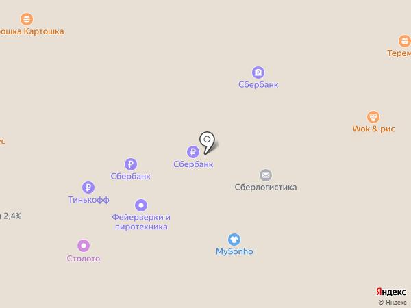 БентоWok на карте Москвы