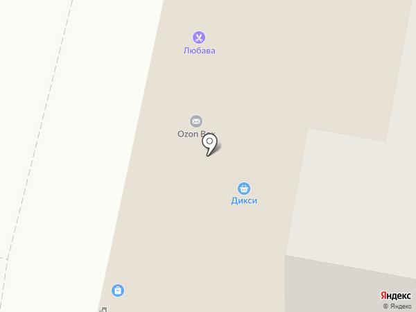Любава на карте Подольска