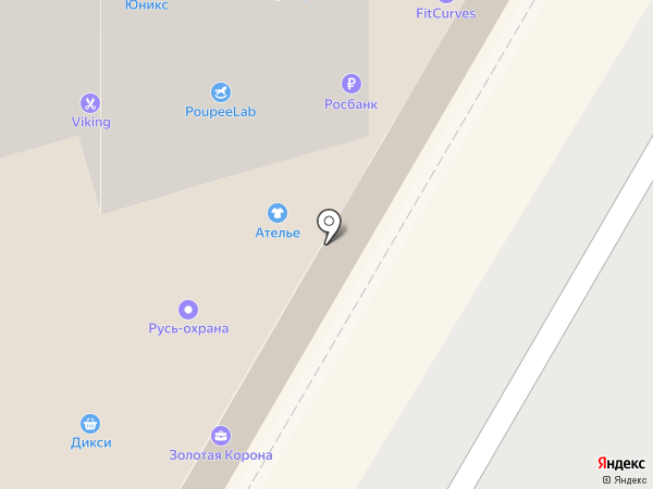 Симпатио на карте Подольска
