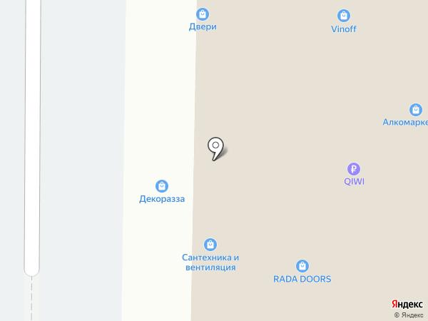 Магазин сантехники на карте Москвы