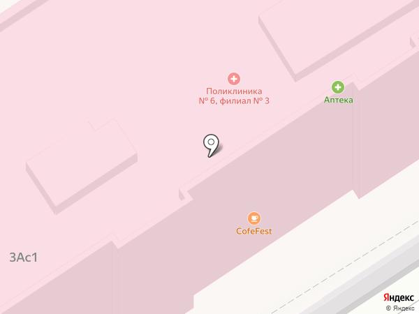 Городская поликлиника №6 на карте Москвы