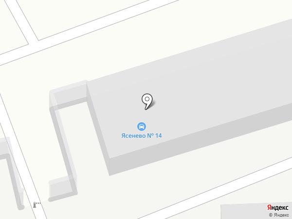 Ясенево-14 на карте Москвы