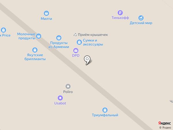 Посудион на карте Москвы