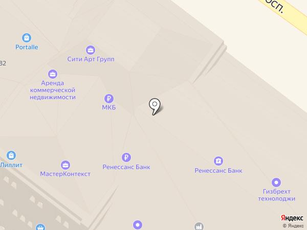 КБ Ренессанс кредит на карте Подольска