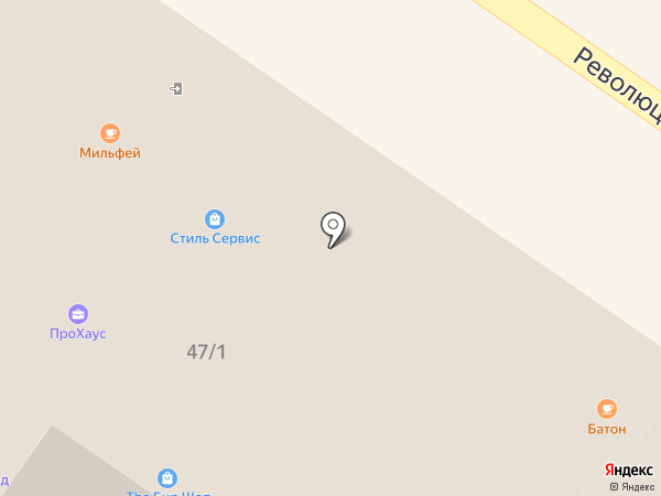 The БИР ШОП на карте Подольска