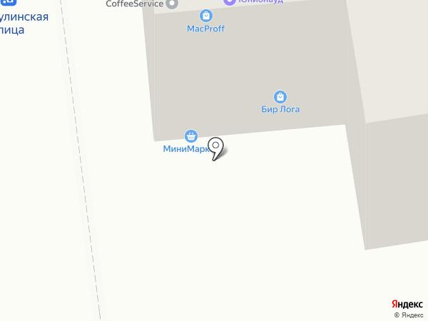 Магазин разливного пива на карте Москвы