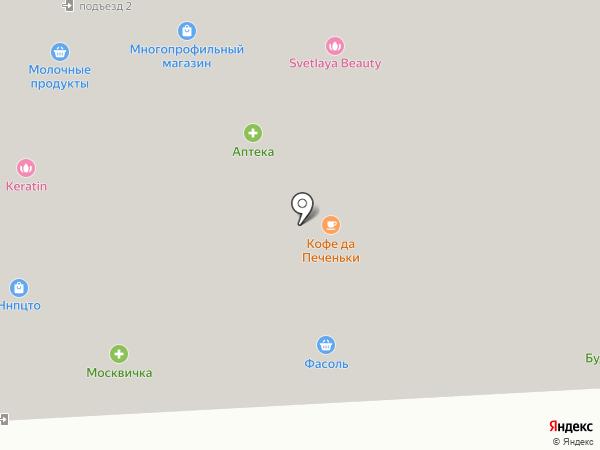 Фасоль на карте Подольска