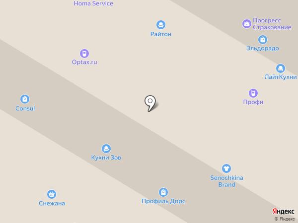 Орматек на карте Москвы