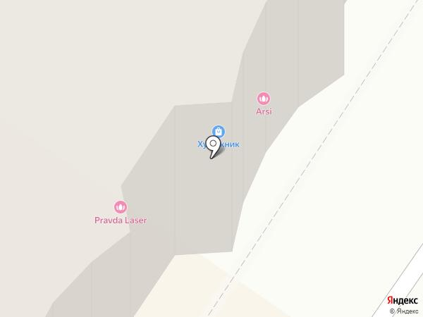 Художник на карте Подольска