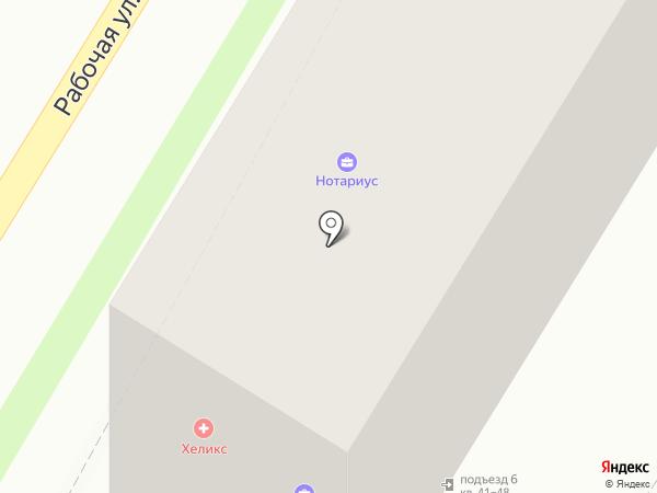 Вертикаль на карте Подольска