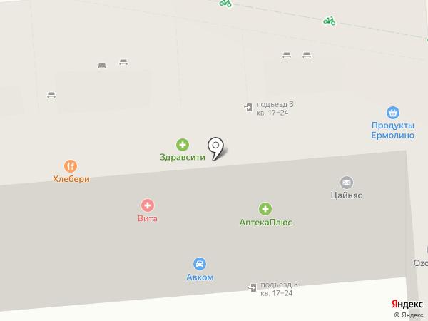 Живика на карте Подольска