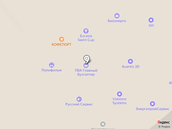 Газоснабжение на карте Москвы