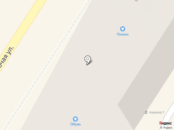 Сапожок на карте Подольска