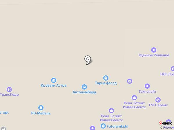 Бизнес Лайнер на карте Москвы