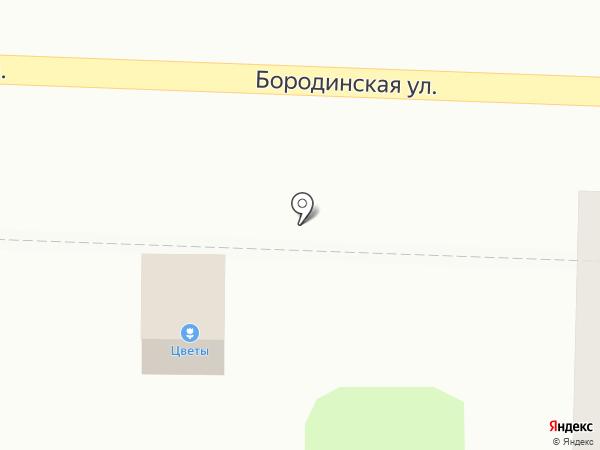 Киоск по продаже цветов на карте Подольска