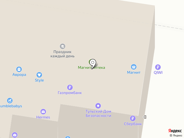 Олимп на карте Тулы
