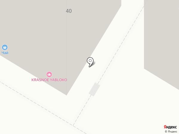 Красное яблоко на карте Москвы