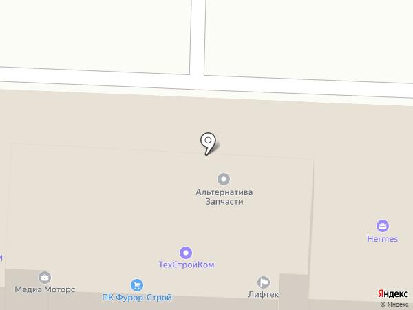 Лифтек на карте Щербинки