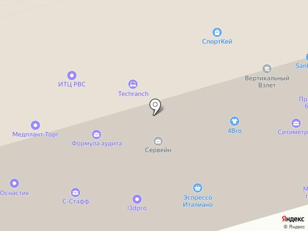 Техно-цепь на карте Москвы