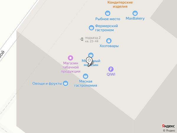 Бородатый шмель на карте Москвы