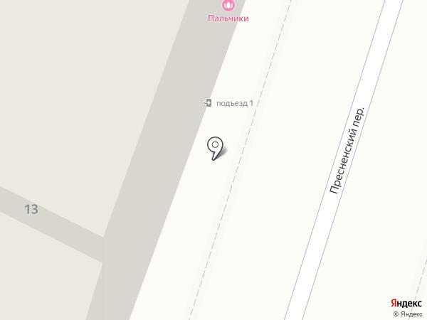 Пальчики на карте Москвы