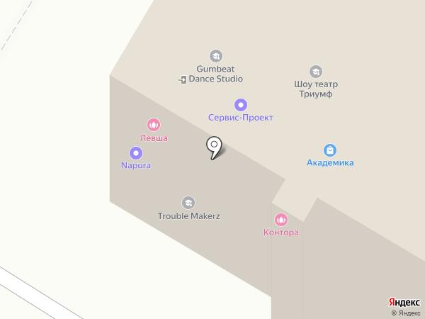 Иголочка на карте Москвы