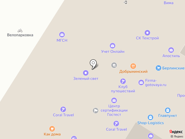 Агент-Финанс на карте Москвы