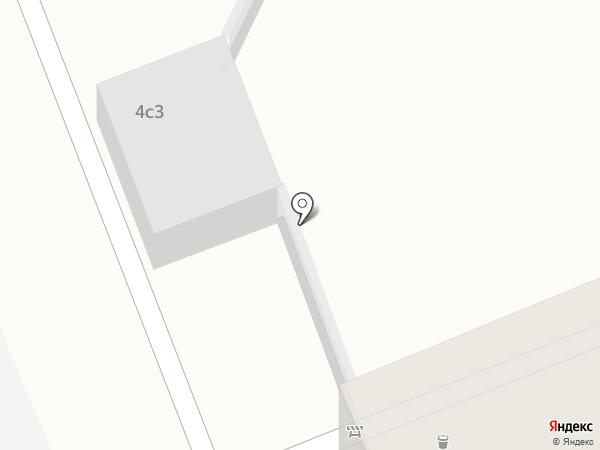 Автостоянка на ул. Всеволода Вишневского на карте Москвы