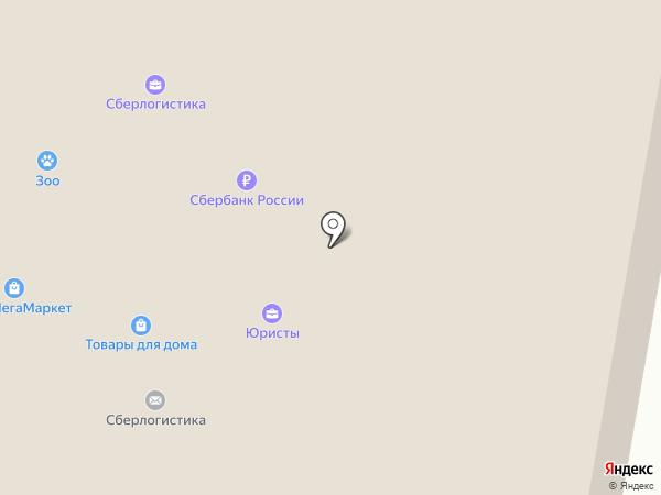 Магазин зоотоваров на карте Москвы