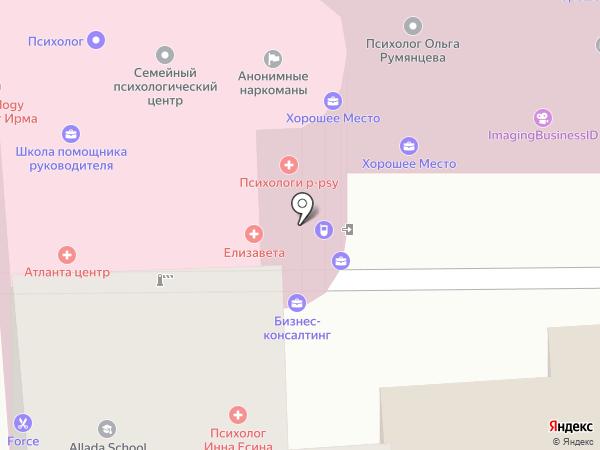 Психология жизни на карте Москвы