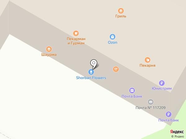 Кафе-гриль на карте Москвы