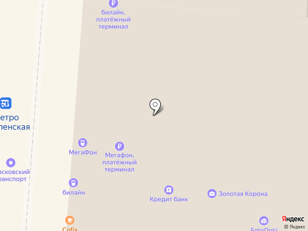 МОСХОЗТОРГ на карте Москвы